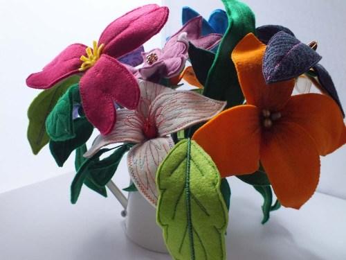 felt flowers 1