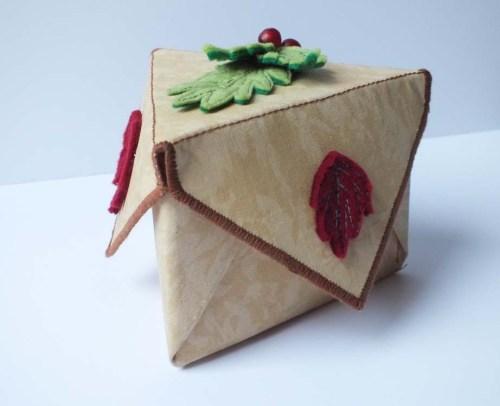triangular fabric box