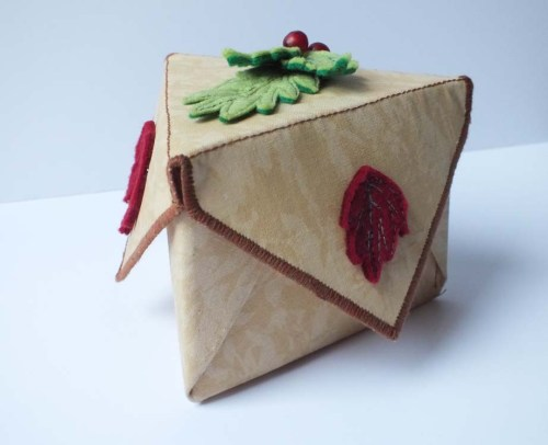 triangular fabric box