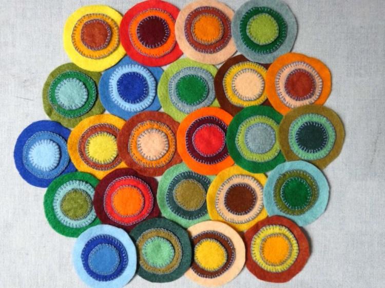 acrylic felt pennies